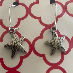 Two pair Star fish pierced earrings